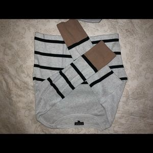 Stripped crop sweater